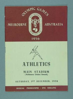 Programme for 1956 Olympic Games athletics events, 1 Dec