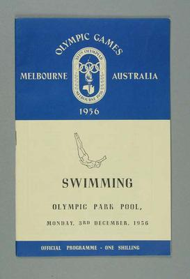 Programme for 1956 Olympic Games swimming events, 3 Dec