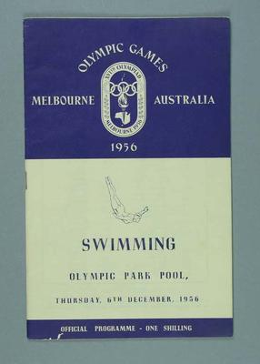 Programme for 1956 Olympic Games swimming events, 6 Dec