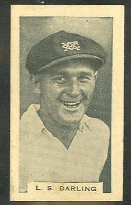 Trade card featuring Len Darling c1930s