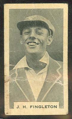 Trade card featuring John Fingleton c1930s