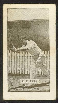 Trade card featuring Keith Rigg c1930s