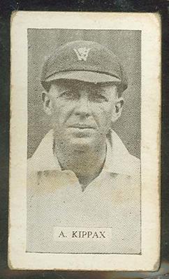 Trade card featuring Alan Kippax c1930s