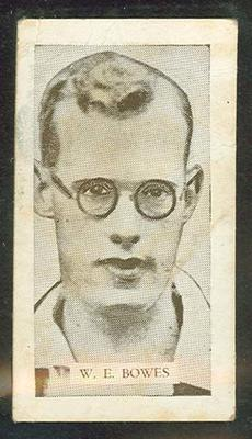 Trade card featuring William Bowes c1930s