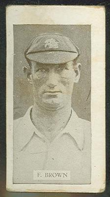 Trade card featuring Fred Brown c1930s
