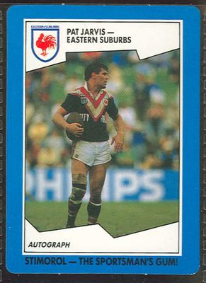 1989 Stimorol Rugby League Pat Jarvis trade card