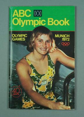 "Booklet, ""ABC Olympic Book 1972 Munich Olympic Games"""
