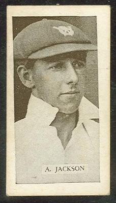 Trade card featuring Archie Jackson c1930s