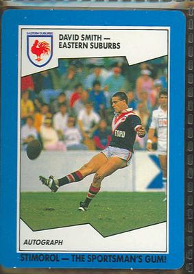 1989 Stimorol Rugby League David Smith trade card