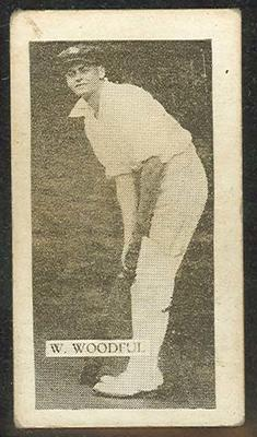 Trade card featuring Bill Woodfull c1930s