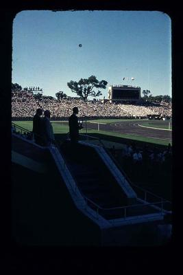 Transparency - 'HRH Opens Games' taken by W. Ager at 1962 BE & CG, Perth