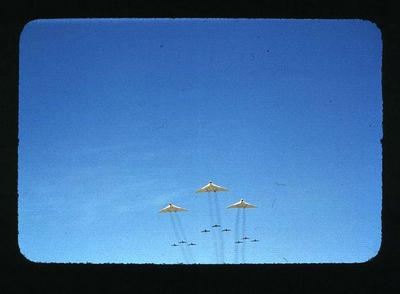 Transparency - 'Vampire Fly-over' taken by W. Ager at 1962 BE & CG, Perth