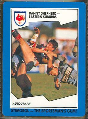 1989 Stimorol Rugby League Danny Shepherd trade card