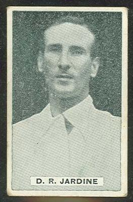 Trade card featuring Douglas Jardine c1930s; Documents and books; 1987.1801.963