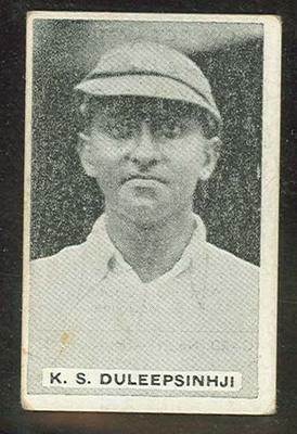 Trade card featuring Kumar Duleepsinhji c1930s; Documents and books; 1987.1801.965