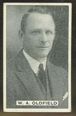 Trade card featuring William Oldfield c1930s; Documents and books; 1987.1801.966