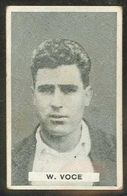 Trade card featuring William Voce c1930s