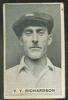 Trade card featuring Victor Richardson c1930s