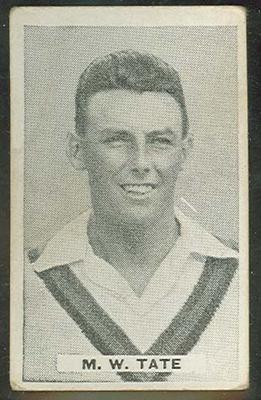 Trade card featuring Maurice Tate c1930s