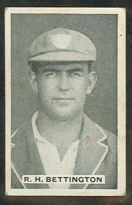 Trade card featuring Reginald Bettington c1930s