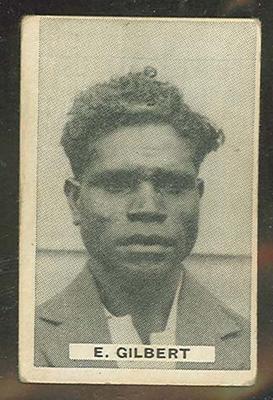 Trade card featuring Eddie Gilbert c1930s