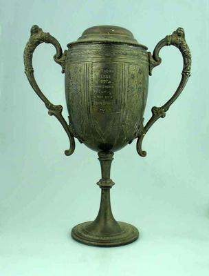 Trophy - Hawthorn College Championship Cup won by John Brake 1907