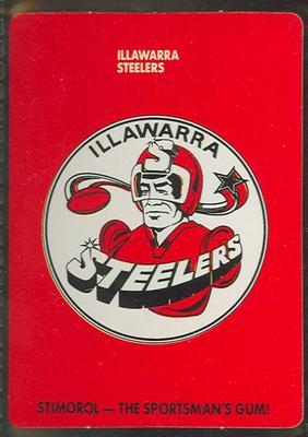 1989 Stimorol Rugby League Illawarra Steelers trade card