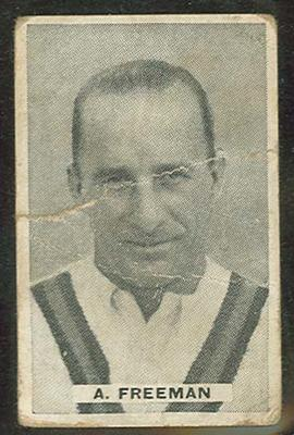 Trade card featuring Alfred Freeman c1930s