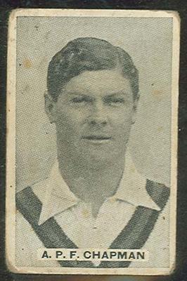 Trade card featuring Arthur Chapman c1930s