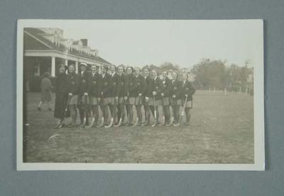 Photograph, Australian women's hockey team USA tour 1936