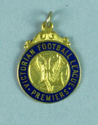 VFL Premiership medal awarded to Donald Cordner, 1941