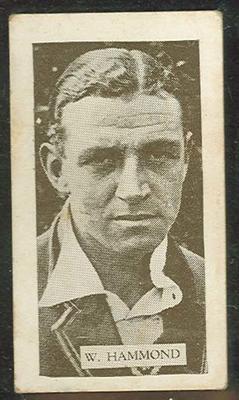 Trade card featuring Walter Hammond c1930s