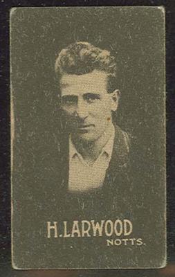 Trade card featuring Harold Larwood c1930s