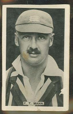 Trade card featuring Francis Mann c1922