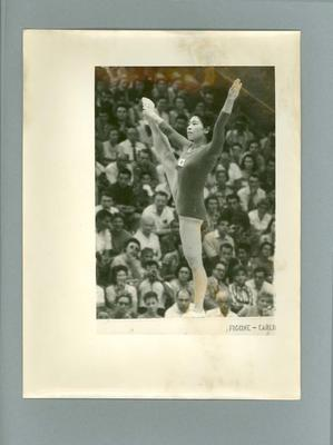 Photograph of gymnastics competition in progress, 1960 Olympic Games