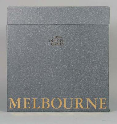 Prospectus for Melbourne's 1996 Olympic Games bid, slip case; Documents and books; Documents and books; 1992.2715.136.9