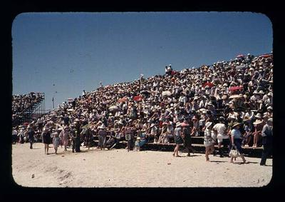Transparency - 'Rowing Spectators' taken by W. Ager at 1962 BE & CG, Perth