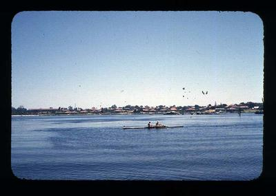 Transparency - 'Winning Pair, Rowing' taken by W. Ager at 1962 BE & CG, Perth