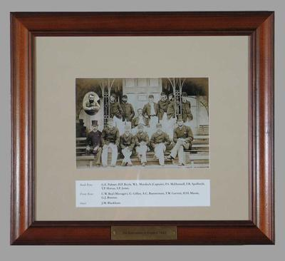 Photograph of Third Australians in England, 1882; Photography; Framed; M15263
