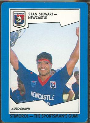 1989 Stimorol Rugby League Stan Stewart trade card