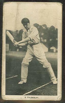 Trade card featuring George Tyldesley c1922