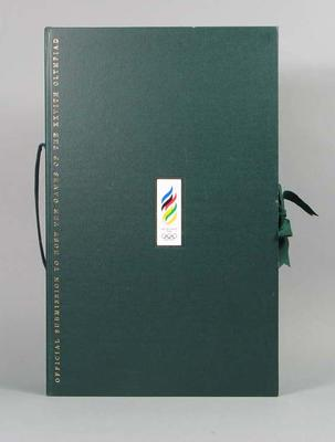 Official Submission to Host the Games of the XXVIth Olympiad, prospectus box; Documents and books; Documents and books; 1992.2715.139.1