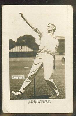 Trade card featuring Percival Hornibrook c1930s