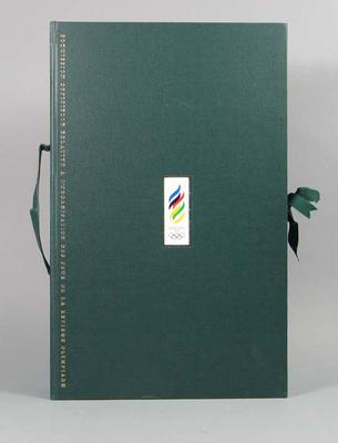 Official Submission to Host the Games of the XXVIth Olympiad, prospectus box