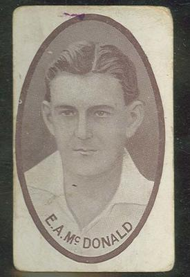 Trade card featuring Edgar McDonald c1930s
