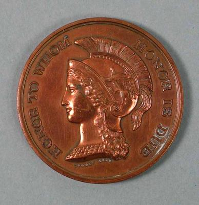 Medal - 2nd Place, 1 Mile Walk Championship of Victoria 1940