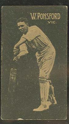 Trade card featuring Bill Ponsford c1930s