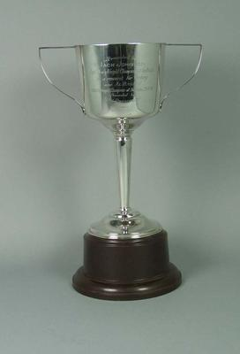 Trophy for Light Heavyweight Championship of Australian, won by Jack Johnson in 1944