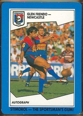1989 Stimorol Rugby League Glen Frendo trade card