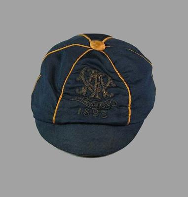 Premiership cap worn by member of the Essendon team - Champions 1893